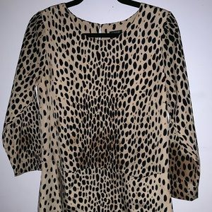 J Crew cheetah print dress size 6